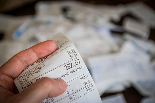 消費税が書かれたレシート